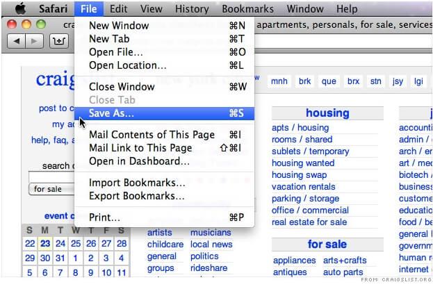 Традиционная строка меню платформы Mac