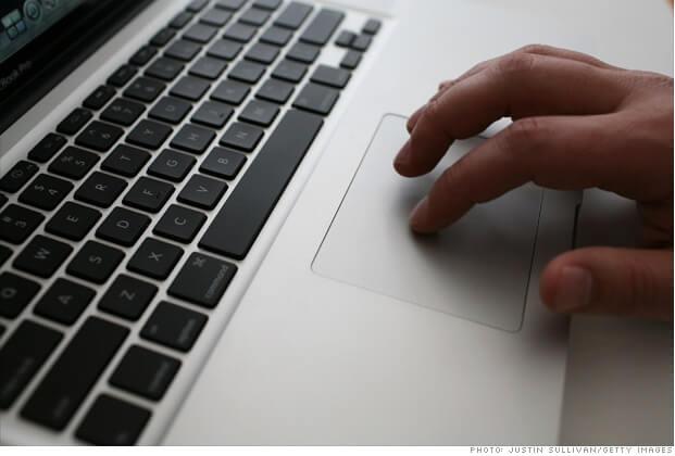 Прокрутка на Mac при помощи трэкпада