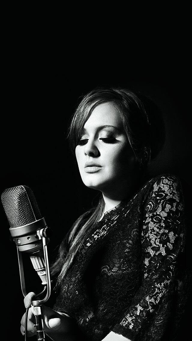 adele-music-singer-dark-bw-celebrity-iphone-5