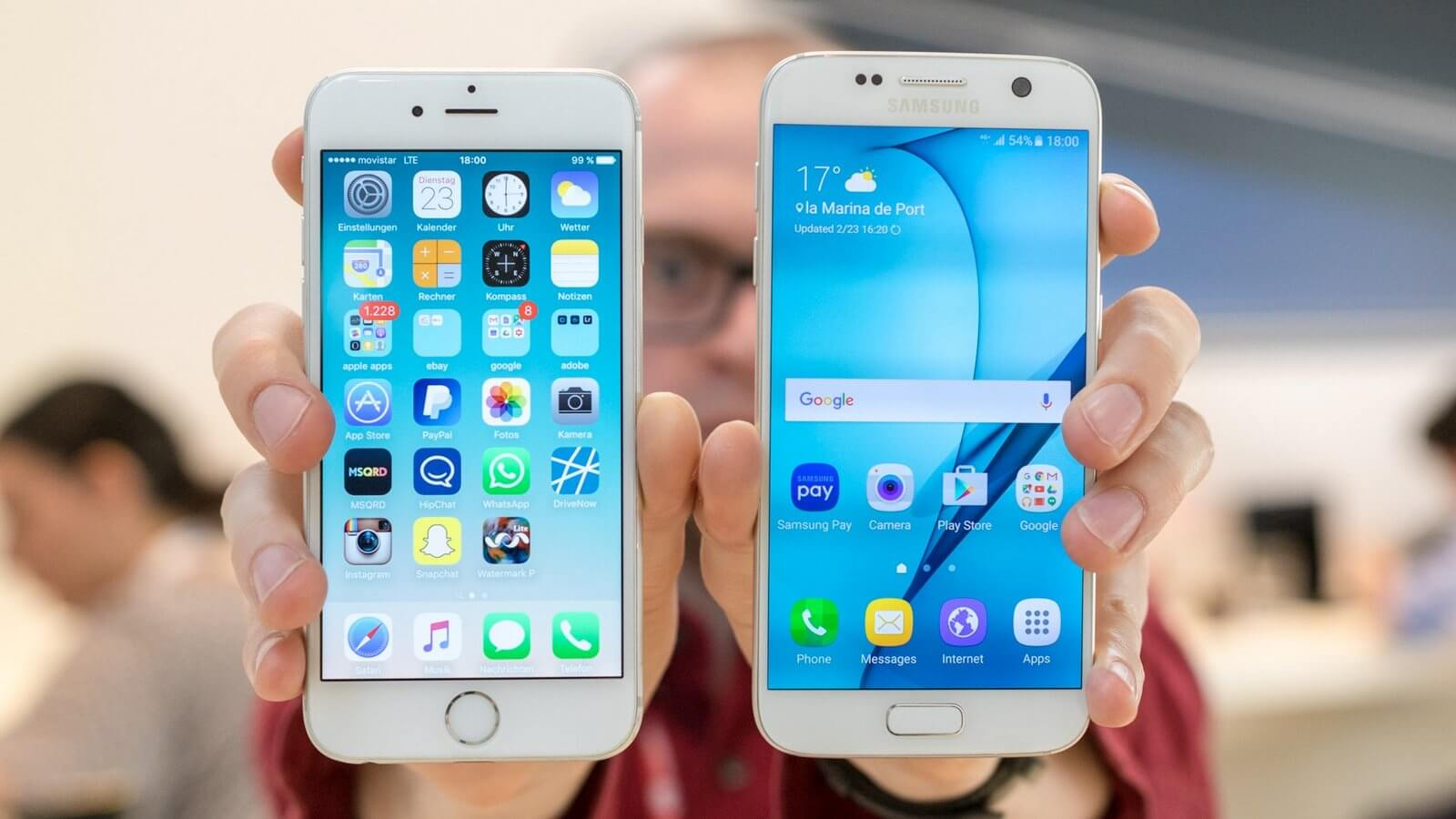 iPhone 6 vs. Galaxy S7