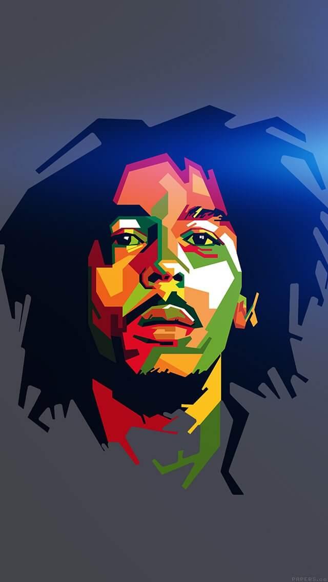 bob-marley-blue-art-illust-music-reggae-celebrity-iphone-5