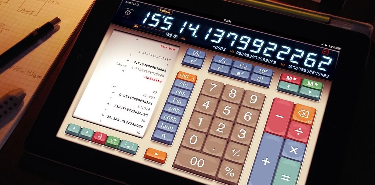 Калькулятор iPad