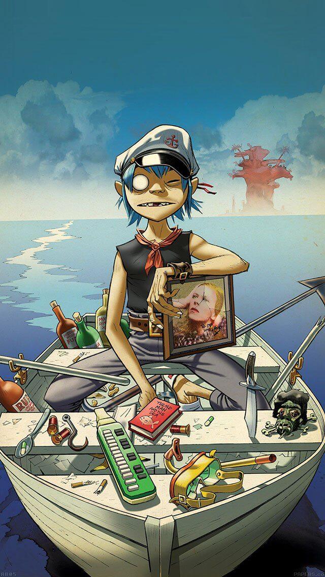 gorillaz-boat-illust-music-iphone-5