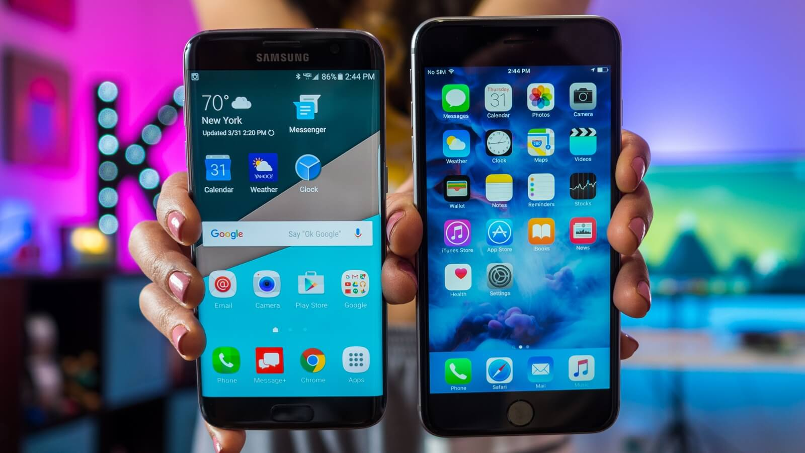 Galaxy S7 Edge vs. iPhone 6s Plus