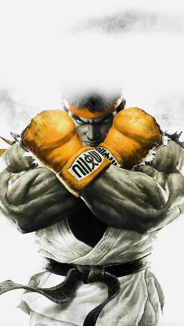 street-fighter-gold-ryu-art-illust-game-iphone-5