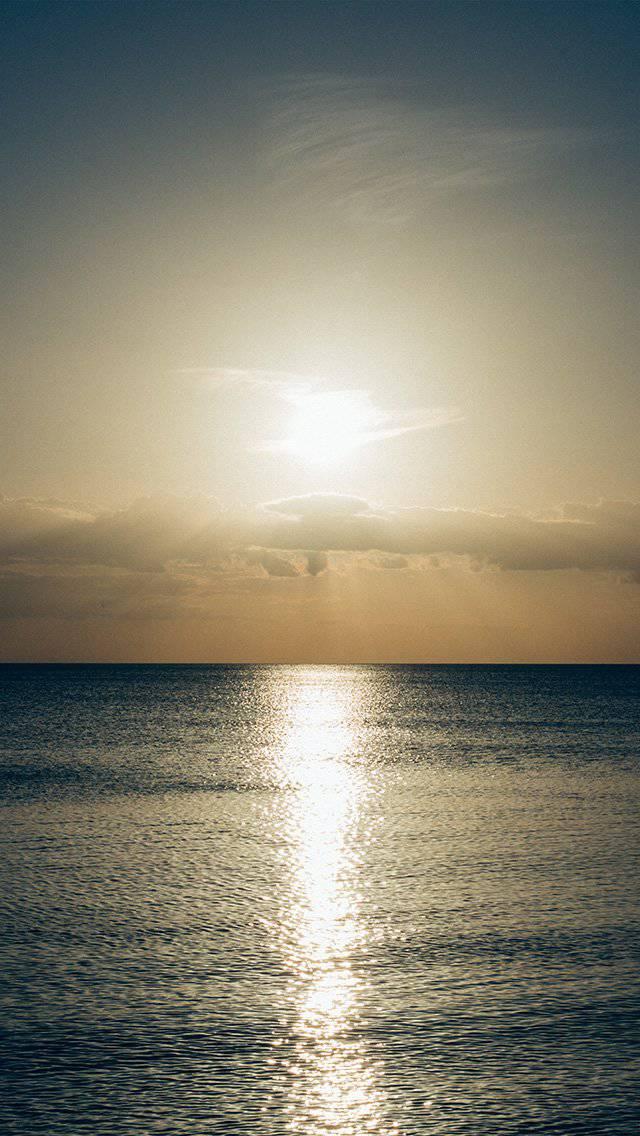 sunset-sky-ocean-water-nature-green-iphone-5