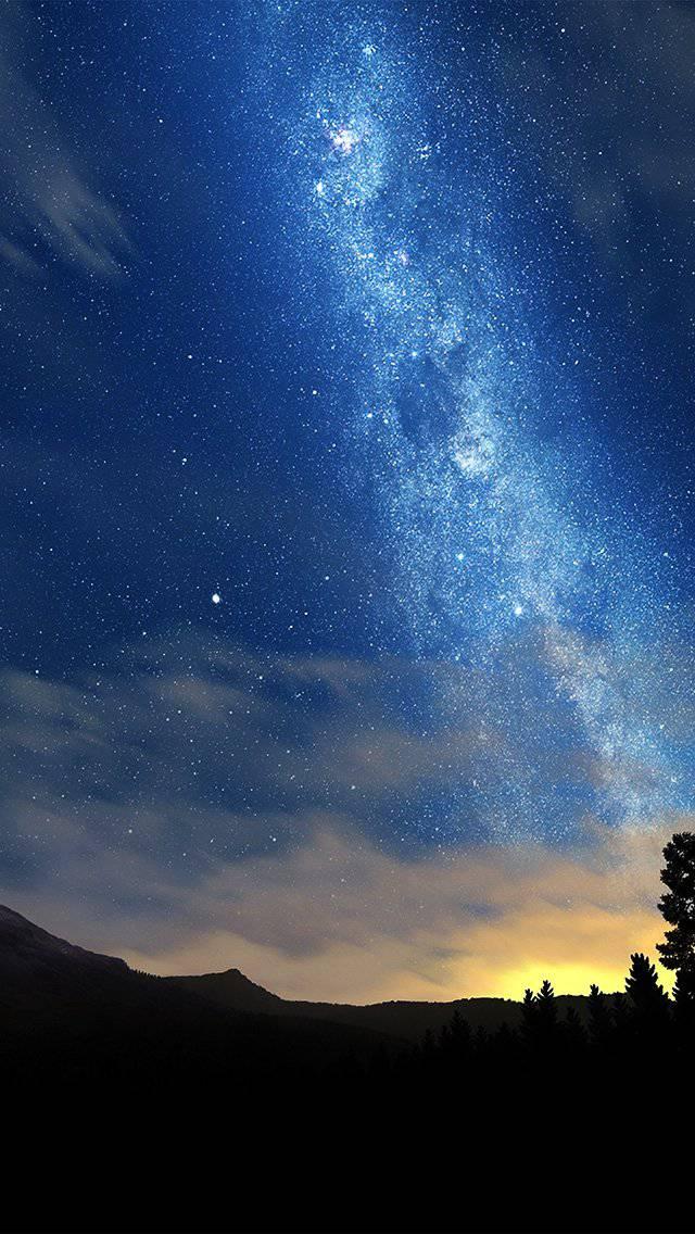 wonderful-tonight-space-star-sunset-mountain-iphone-5