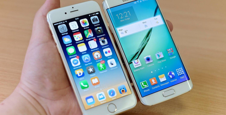 iPhone и Samsung