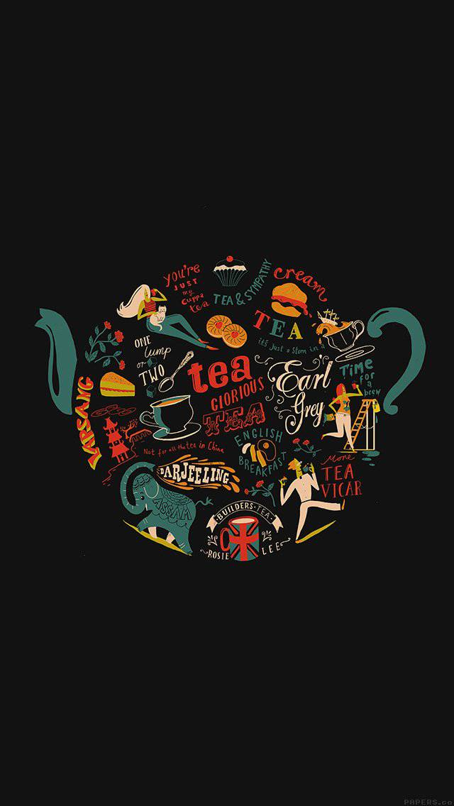 tea-art-illust-painting-dark-iphone-5