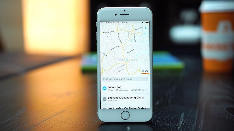 Карты в iOS 10