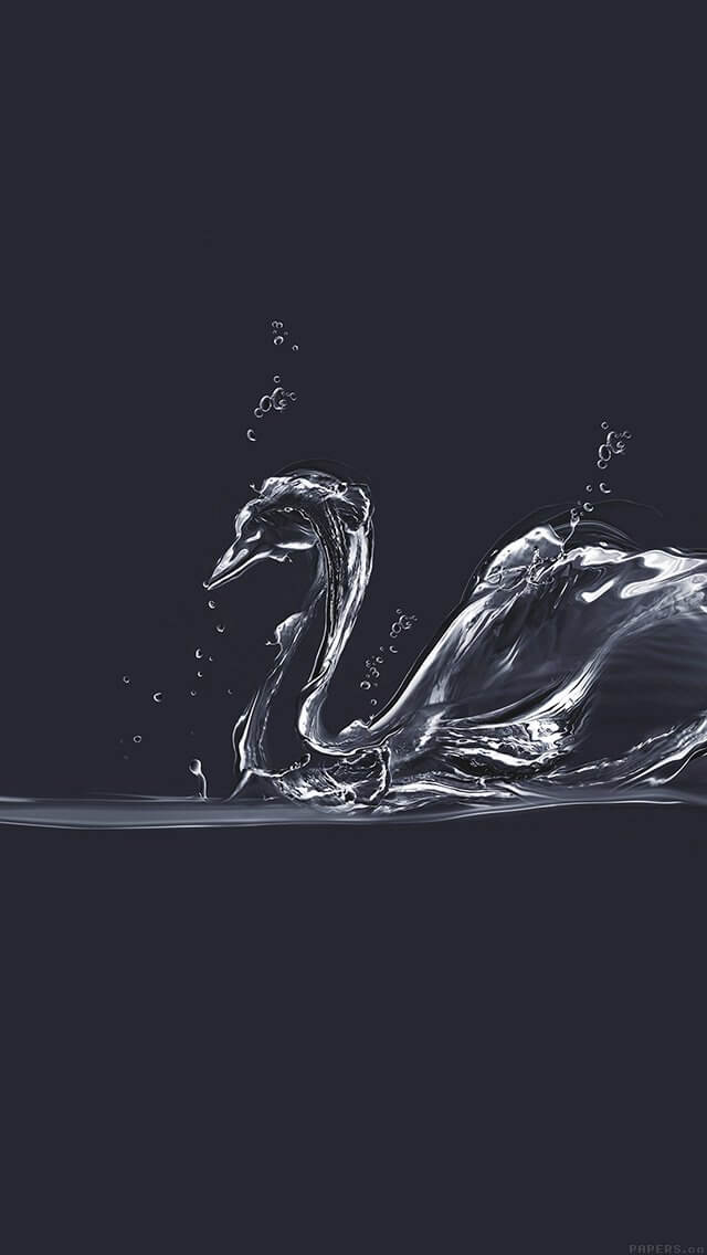 swan-blue-drop-art-illust-iphone-5