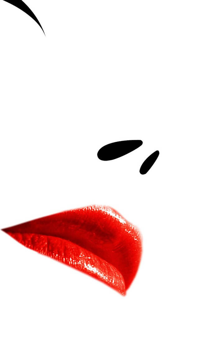 minimal-white-face-red-girl-iphone-5