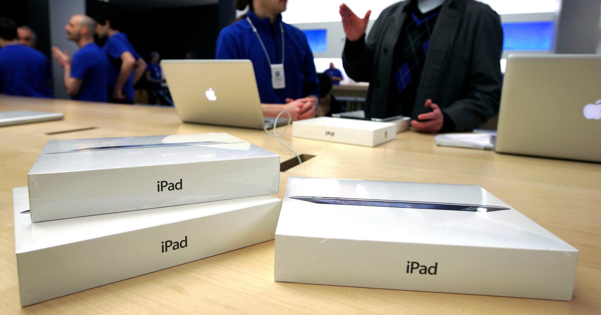 iPad в магазине