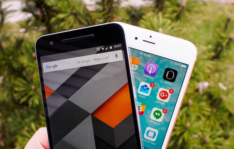 iPhone и Nexus