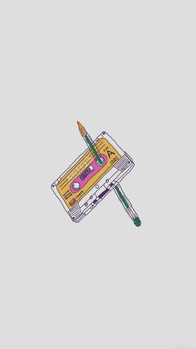 tape-old-illust-minimal-iphone-5