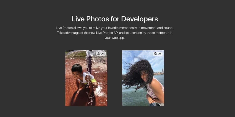 Apple выпустила новый API для публикации Live Photos на веб-страницах