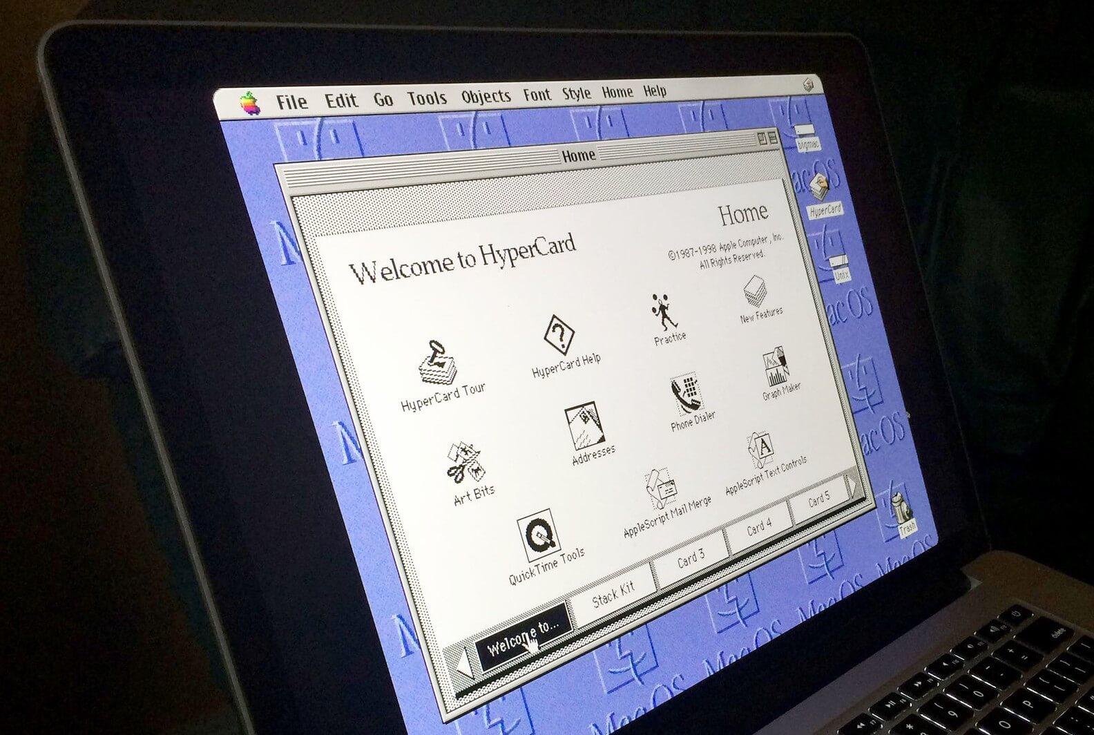 HyperCard: звездная ночь в Лос Гатосе