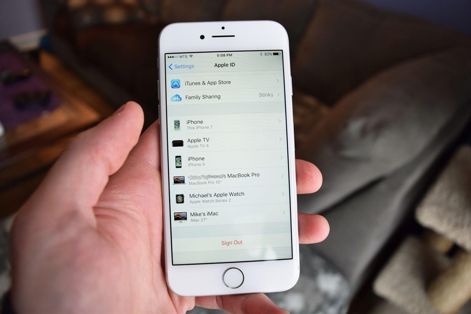 Как узнать, какие устройства подключены к iCloud