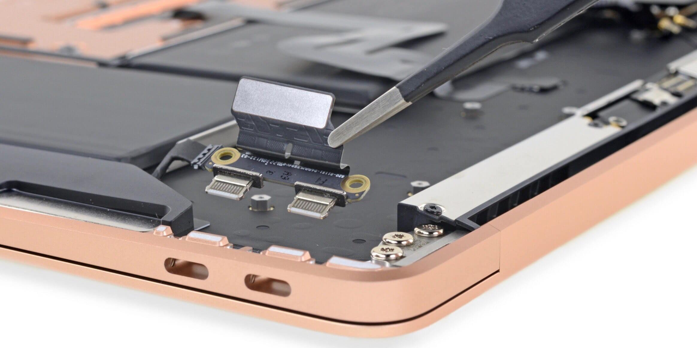 macbook air 2018 интересного внутри