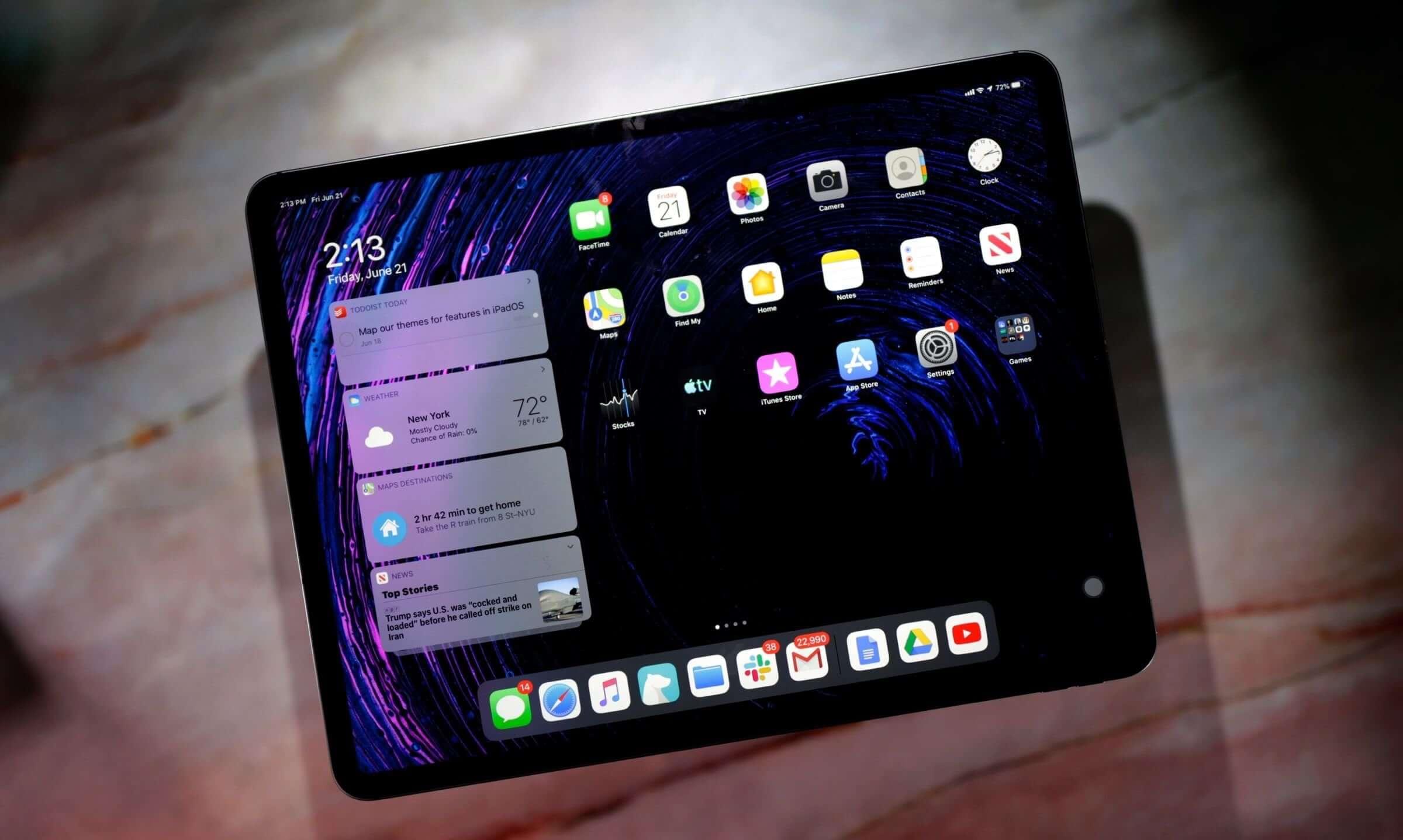 Apple добавила настройки для рабочего стола в iPadOS