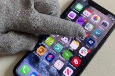 iPhone и перчатки