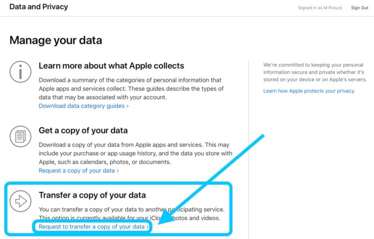 Apple разрешила переносить фотографии из iCloud в Google Фото. Но не всем