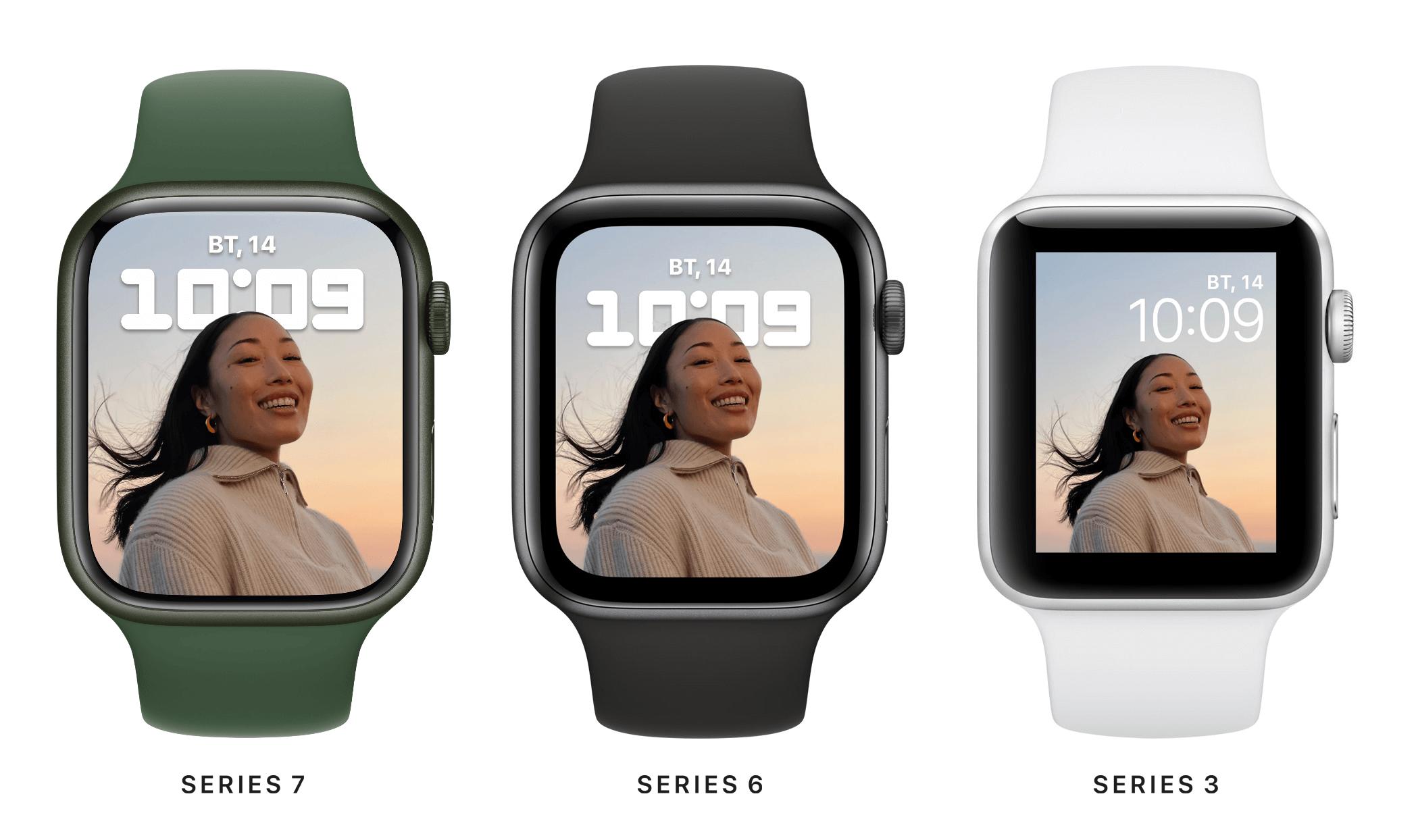 Чем Apple Watch Series 7 отличаются от Apple Watch 6